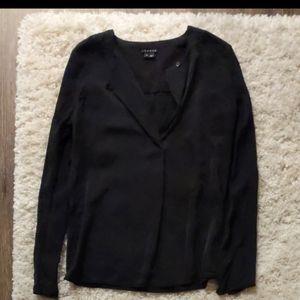 100% silk theory blouse